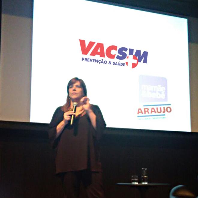 Curso para gestantes. Araujo e Vacsim parceria de sucesso na promoção da saúde!